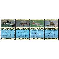 1985 I leader dei timbri errore mondo / WWII Military Aircraft invertiti / Scott # 762-5 , SG # 812-19 / MNH - Scott Album