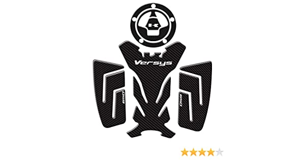 Lasamot Moto Fiber De Carbone Gas Oil R/éservoir Protecteur Os De Poisson Autocollant Genouill/ère Traction Coussins Lat/éraux Fit pour Kawasaki Rahi Versys 650 2016-2018