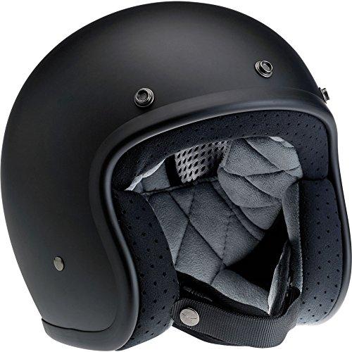 Biltwell Bonanza Half Helmet (Flat Black, X-Small)