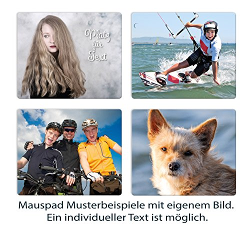 Individuelles Mousepad 23 x 19 cm mit eigenem Foto, Wunsch Mauspad gestalten, individualisierbar mit Ihren Bildern und auch Text nach Wahl