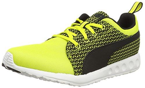 Puma carson runner knit, sneakers da uomo, giallo (sulphur spring-black 02), 44