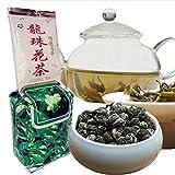 250g (0,55LB) Grado superiore 100% perle di dargon al gelsomino Tè organico Fiore di gelsomino Tè verde Alimento verde Tè profumato al tè sano