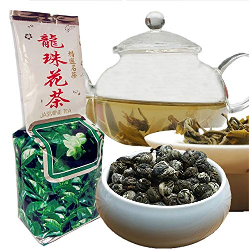 250g (0.55LB) Grado superior 100% jazmín dargon perlas té Flor de jazmín orgánico Té verde Té verde Té saludable té perfumado