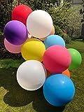 GuassLee 10pcs Großer Ballon 36 Zoll Runde Latex Riesen Ballon Große Dicke Ballons Foto Shooting / Geburtstag / Hochzeit / Festival / Event / Karneval Dekorationen Sortiert