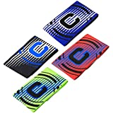 Adjustable Captain Armband Elastic Anti-drop Football Soccer Player Bands For Youth And Adult