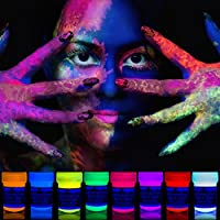 neon nights 8 x Pintura Corporal UV Luz Negra Pintura Arte Corporal Neón Maquillaje