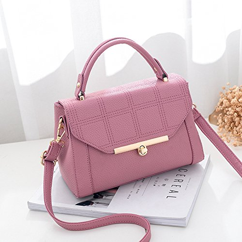 GUANGMING77 _ Piccola Borsa Bag Spring Tide,Claret Rubber red