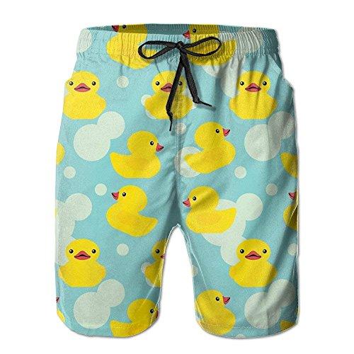 Kleine gelbe Herren Ente Sommer Badehose Strand Shorts Board Cargo Shorts Schnell trocknend (3x Herren Schwimmen Shorts)