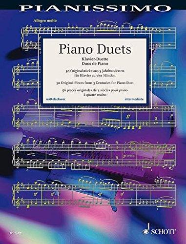 Piano Duets (50 pièces célèbres arrangées par Monika Twelsiek) --- Piano 4 Mains