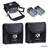 CamKix® Explosionsgeschützte LiPo-Akku-Tasche Kompatibel mit DJI Spark - 2-er Pack - Feuerresistente Sicherheits- und Aufbewahrungstasche - Für sichere Ladung und Transport - Bis zu 4 Spark Akkus