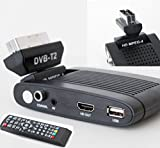 Scart Freeview, Digital HD TV Receiver Recorder Tuner Set Top Box, USB Memory Recorder, Hinged for LCD TVs by Digi-fun