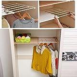 Organizadores de armario ajustable de HyFanStr, plástico, Blanco, 24CM Width