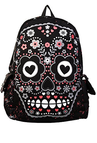 Banned Candy Skull Sac A Dos (Noir)