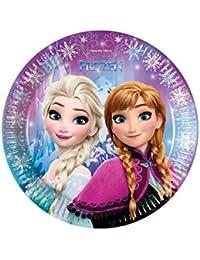 Disney El reino del hielo Chicas Paper plate - Azul