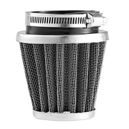 AAGOOD Motorrad-Pilz-Luftfilter 60mm Universal-Kopfklemme Motorrad Luftfilter Filter Schwarz Luftfilter