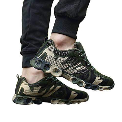 Sneaker Herren Freizeitschuhe Camouflage Schuhe Casual Fashion Schuhe Bequeme Weiche Sportschuhe Lace-Up Turnschuhe ABsoar
