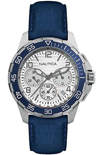 Nautica Orologio Cronografo Quarzo Uomo con Cinturino in Pelle NAPPLH006