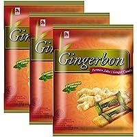Agel caramelos de jengibre con sabor a menta paquete de 125 g, (3x125g)