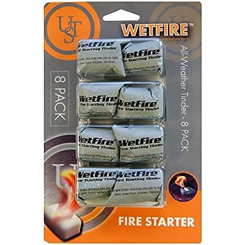 UST Wet Tinder Fire Starter (Pack of 8) - White, 19 x 12.5 x 2.5 cm