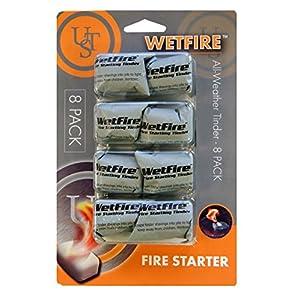 51BrazLLKZL. SS300  - UST Unisex's Wet Tinder Fire Starter (Pack of 8) -White, 19 x 12.5 x 2.5 cm