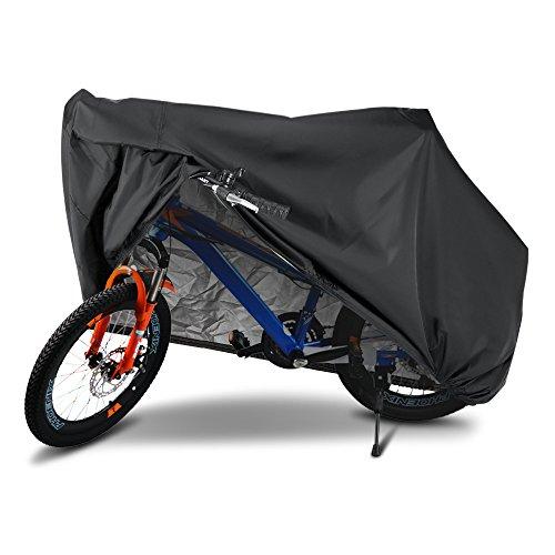 Preisvergleich Produktbild Fahrradhüllen,  Furado Fahrradabdeckung Wasserdicht 190T Fahrradgarage Fahrrad Schutzhülle,  Fahrradgarage,  200x70x110CM,  Anti-UV / Wasserdicht / Staubdicht für Mountainbike,  Rennrad Stored Im Freien oder drinnen,  XL Schwarz