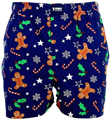 Happy Shorts American Boxer Boxershorts Shorts Webboxer D42 Geschenk Weihnachten, Grösse:XL - 7-54, Farbe:Design 042