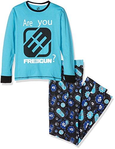 Freegun EG.Freevirus.Pys.MZ, Set Abbigliamento Sportivo Bambino, Bleu (Cyan), 16 Anni