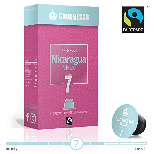 Gourmesso Nicaragua Mezzo - 100 Nespresso kompatible Kaffeekapseln - Fairtrade