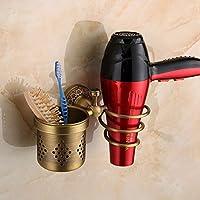 SDKKY Estanteria de baño antiguo, europeo, Secador de pelo, Secador de cobre del