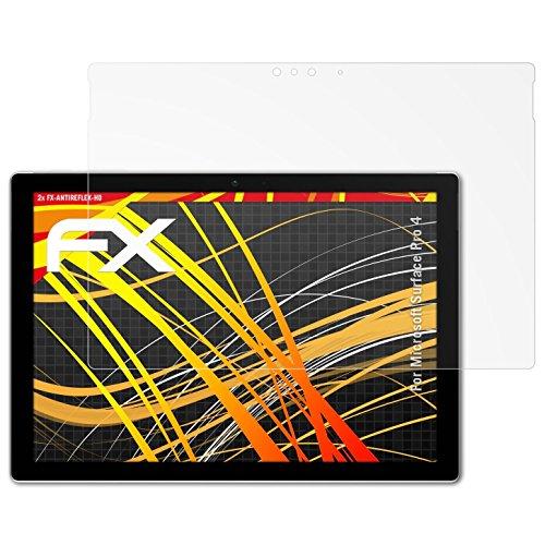 atFolix Schutzfolie kompatibel mit Microsoft Surface Pro 4 Bildschirmschutzfolie, HD-Entspiegelung FX Folie (2X)