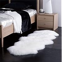 New 100% Genuine New Zealand Ivory White Extra Large Sheepskin Rug 180 x 75 cm
