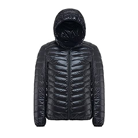 Down Jacket,4YANG Men's Hoody Winter Coats Male Hooded Jackets Teenager Slim Fit Windbreaker Down Jacket(Medium)
