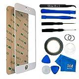 MMOBIEL iPhone 6/6S Écran tactile en verre blanc avec Set d'outils pour changement de avant vitre avec Pre Cut Stickers/Pince à épiler/Rouleau 2mm Ruban adhésif/ventouse/fil/chiffon microfibre