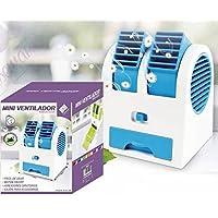 WE HOUSEWARE Mini Ventilador Ambientador Aireadores Giratorios deposito 500ml con bolsitas ambientador USB o Pilas