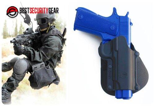 FOBUS Paddle Holster für Linkshänder LH in schwarz für Colt 1911 Government .45 und andere 1911 Formen (keine Unter-Lauf-Träger) / Smith & Wesson 945 / Kimber 4 Inch & 5 Inch / FN High Power, FN 49 / Kahr K40 Metall (ausschließlich) PM9, MK9, K9, T40, MK40 / Sarsilmaz Klinic 2000 Lampe C21-LH FOBUS + Best Security Gear Magnet (Swat-team Pistole)