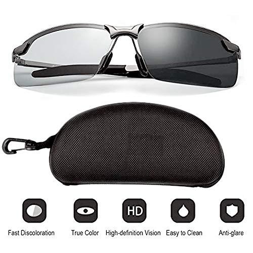 KAISHANE Nacht, die Gläser fährt HD-Tag- und Nacht-Polarisationsschutzbrille für das Angeln Sonnenbrille für UV400 Eyes Protection Ultraleicht Risikoreduzierte Blendschutzbrillen