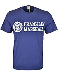 Franklin & Marshall MF437 Jersey Round Neck Big Print Navy T-Shirt