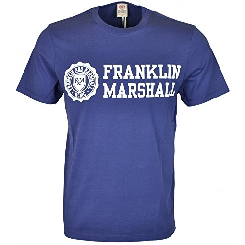 Franklin-Marshall-MF437-Jersey-Round-Neck-Big-Print-Navy-T-Shirt
