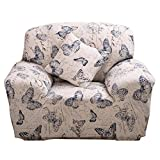 (2 Seater, Butterfly) - Sofa Cover 1 2 3 4 Seater Slip Cover Sofa Couch Stretch Elastic Fabric Sofa Protector