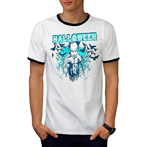 Halloween Horror Kult schaurig Dämon Herren S Ringer T-shirt | (Halloween Kostüm Kult Ideen)