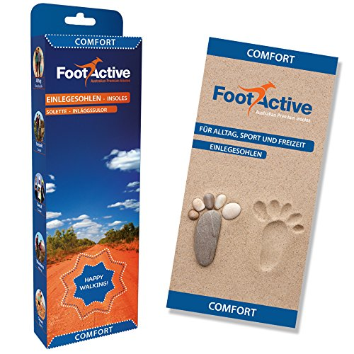 Naturliebhaber FootActive Outdoor-Einlegesohlen f Fester Halt und D/ämpfung bei hohen Belastungen. Abenteuerfreunde