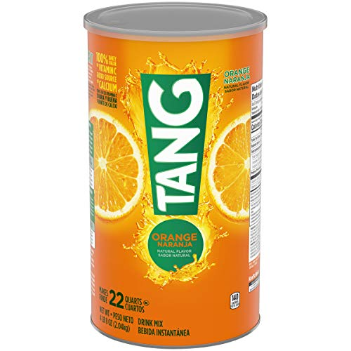 Tang Orange Powdered Drink Mix (Makes 22 Quarts), 72-Ounce Canister (Pack of 2) Orange Cannister