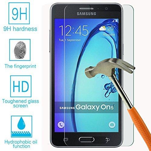 Samsung Galaxy ON5gehärtetem Glas Bildschirmschutzfolie, Klar 9H gehärtetem Glas 0,26mm Premium HD Bildschirmschutzfolie für Samsung Galaxy ON5G550