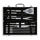 Deluxe Stainless-Steel 14 Piece BBQ Grill Set (13 Tool and 1 Aluminum Case)
