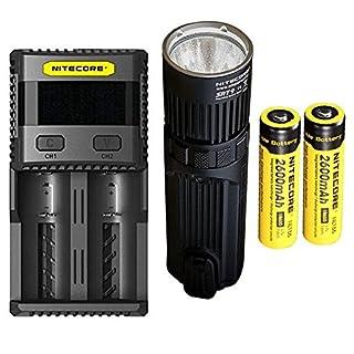 Combo: Nitecore SRT9 Flashlight -2150 Lumens w/2x NL186 Battery & SC2 Charger
