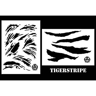 Acid Tactical® 2er-Pack - 23 cm x 35 cm Camouflage Airbrush-Sprühfarbe - Pistolenfarbe Set - Vietnam Tigerstripe