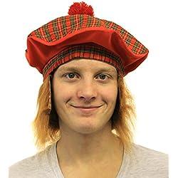 6X TAM o ' sombrero con pelo FANCY boina escocesa e instrucciones para hacer vestidos escocés se pueden quemar NIGHT diseño con bandera de Escocia