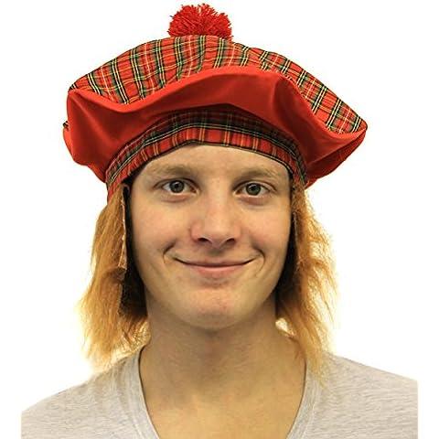 6X TAM o ' sombrero con pelo FANCY boina escocesa e instrucciones para hacer vestidos escocés se pueden quemar NIGHT diseño con bandera de