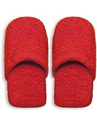 Excelsa Chaussons de bain, éponge, rouge, 36–40, 2unités