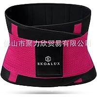 HL-movimiento corporal corsé de plástico correa cintura cuerpo cintura abdomen,Rosa roja,XS